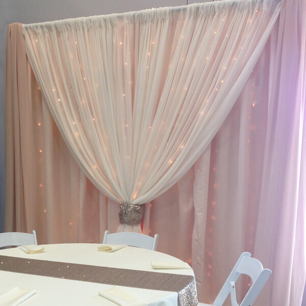 Blush Backdrop | Celebrations by Rent-All located in Sioux Center | Wedding Rental | Backdrops For Rent