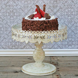 Cake Stand Antique White 10"