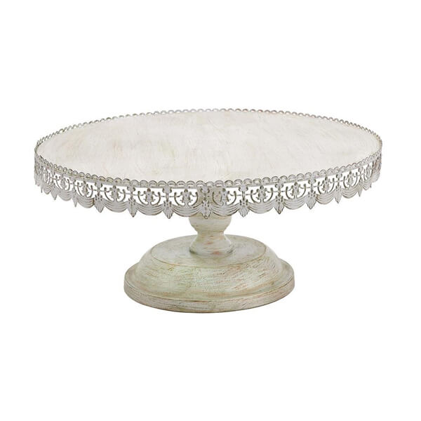Cake Stand Antique White 22"