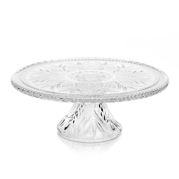 Glass Dublin Cake Stand 12"