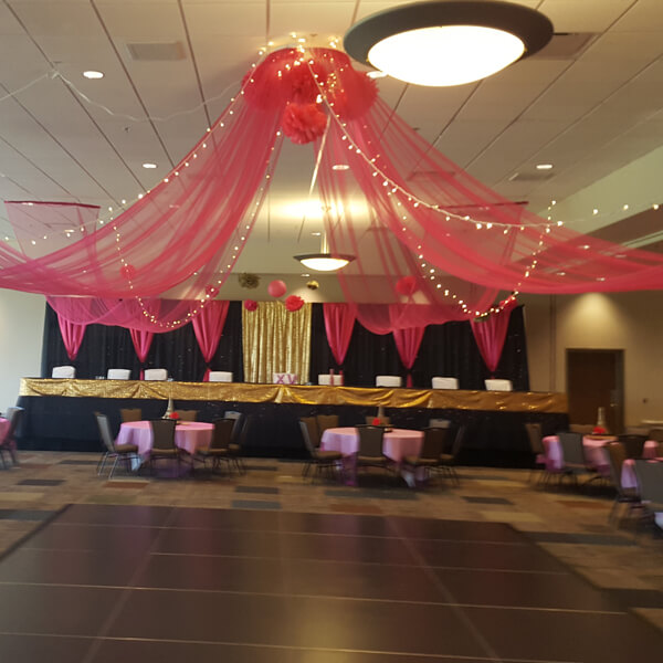 Ceiling Drape (2) | Rent-All located in Sioux Center, Spencer, Sioux Falls and Storm Lake