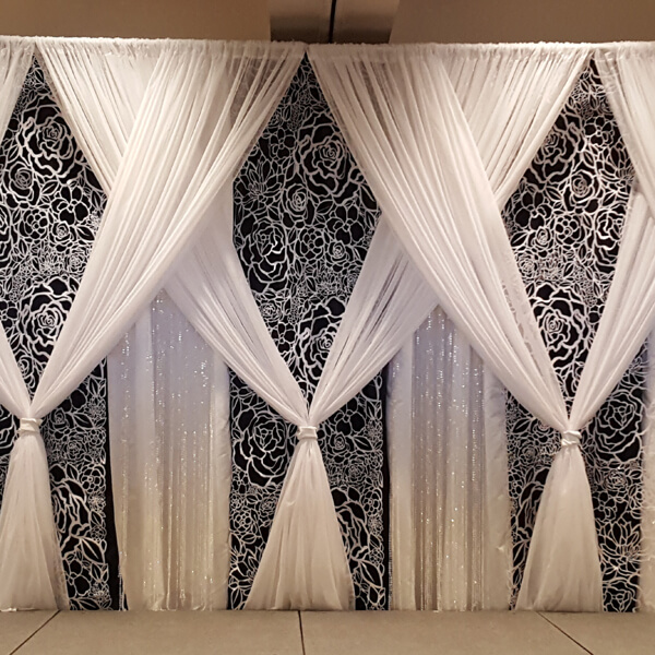 Flower Cutout Backdrop | Celebrations by Rent-All located in Sioux Center | Wedding Rental | Backdrops For Rent