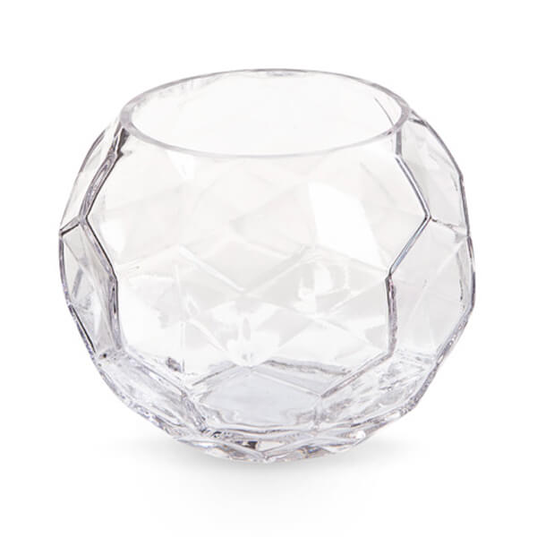 Glass Faceted Bowl 5IN | Rent-All located in Sioux Center, Spencer, Sioux Falls and Storm Lake