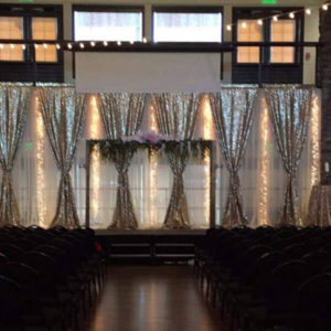 Glitz & Lights Backdrop | Celebrations by Rent-All located in Sioux Center | Wedding Rental | Backdrops For Rent