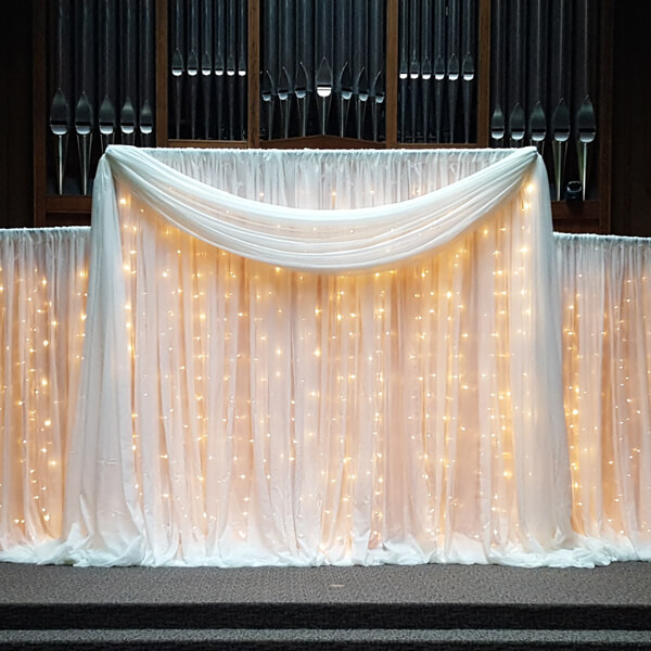 Ivory Backdrop | Celebrations by Rent-All located in Sioux Center | Wedding Rental | Backdrops For Rent