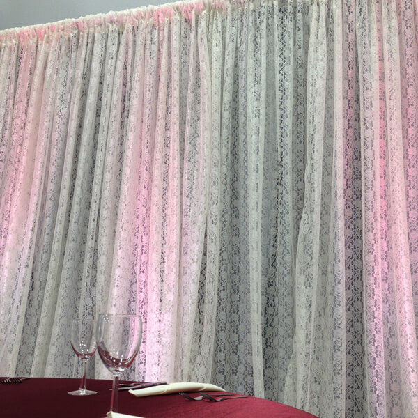 Ivory Lace Backdrop   Celebrations by Rent-All located in Sioux Center   Wedding Rental   Backdrops For Rent