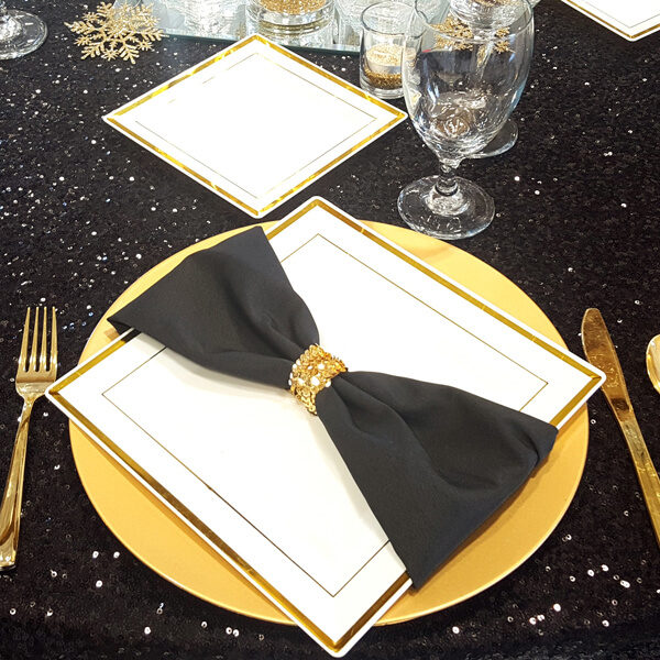 Black Napkin   Celebrations by Rent-All located in Sioux Center   Wedding Rental   Cloth Napkins For Rent
