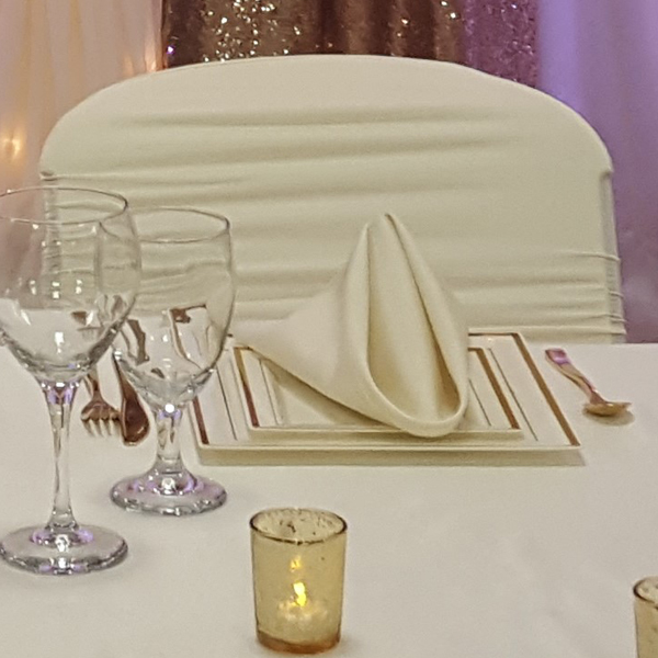 Ivory Napkin   Celebrations by Rent-All located in Sioux Center   Wedding Rental   Cloth Napkins For Rent