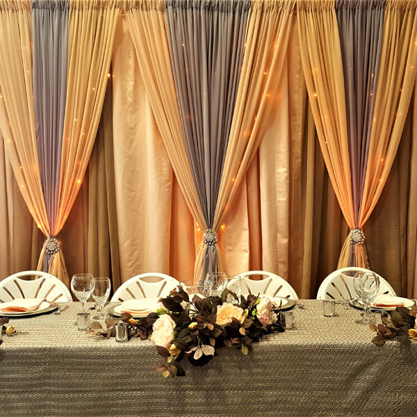 Neutrals Backdrop | Celebrations by Rent-All located in Sioux Center | Wedding Rental | Backdrops For Rent