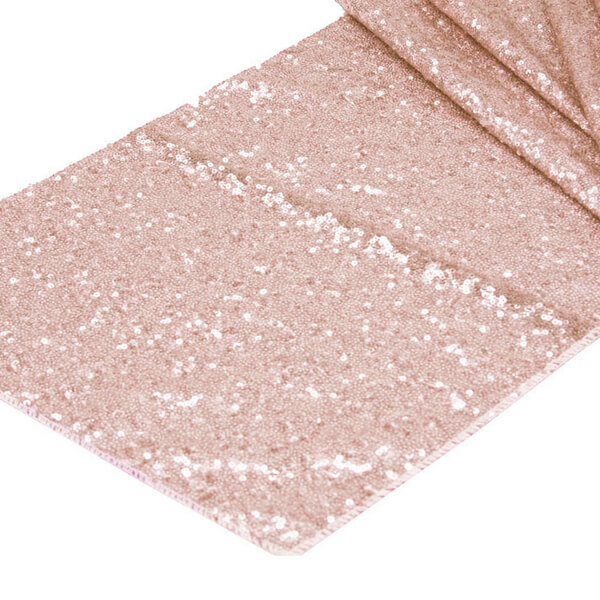 Blush Glitz Sequin Runner | Celebrations by Rent-All located in Sioux Center | Wedding Rental | Table Runners For Rent