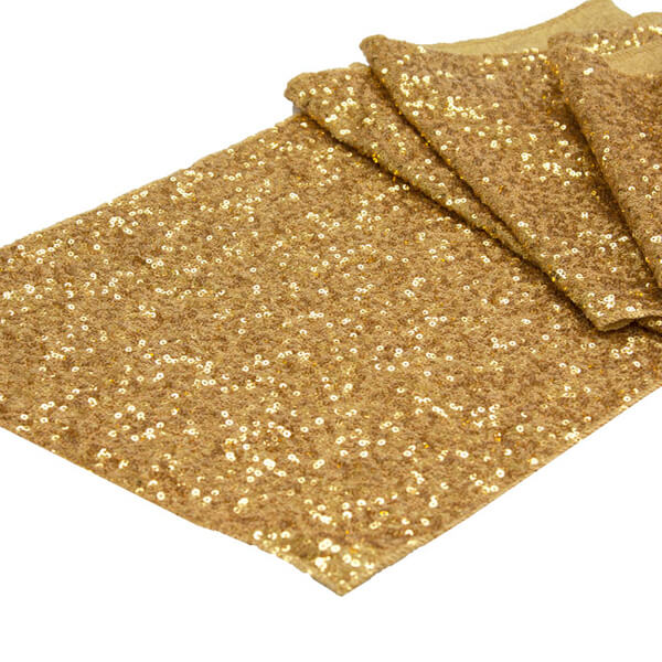Gold Glitz Sequin Runner   Celebrations by Rent-All located in Sioux Center   Wedding Rental   Table Runners For Rent