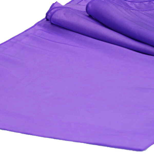 Purple Taffeta Runner | Celebrations by Rent-All located in Sioux Center | Wedding Rental | Table Runners For Rent