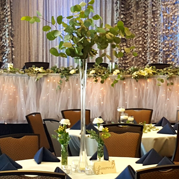 """Glass Tower Vase 31.5""""   Celebrations by Rent-All located in Sioux Center   Wedding Rental   Tall Vase For Rent"""