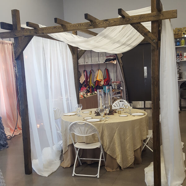 Wood Arbor | Celebrations by Rent-All located in Sioux Center | Arbor For Rent