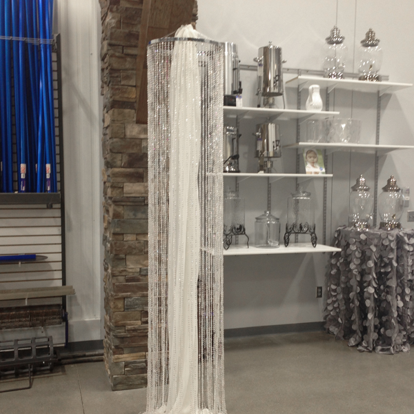 Crystal Columns 9' | Celebrations by Rent-All located in Sioux Center | Wedding Decor For Rent
