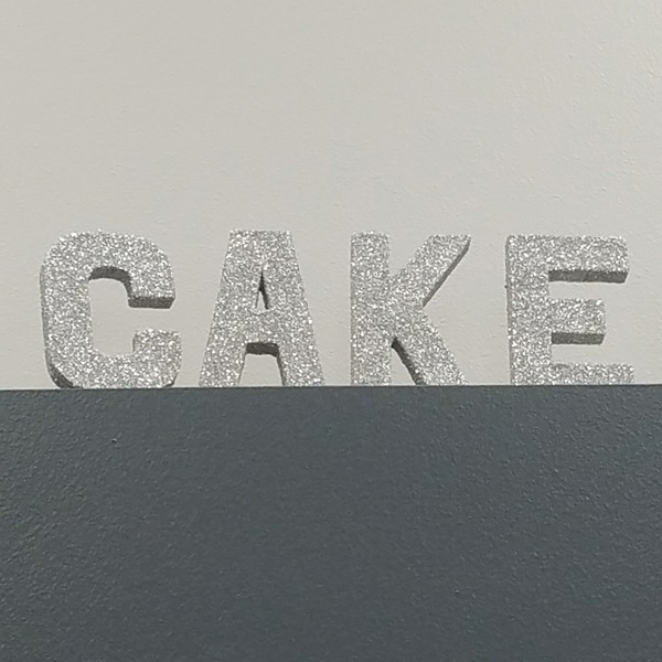 CAKE Letters - Silver | Celebrations by Rent-All located in Sioux Center | Wedding Sign Decor For Rent