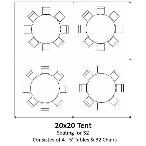 20x20 Frame Tent | Celebrations by Rent-All located in Sioux Center and Storm Lake | Tents for Rent