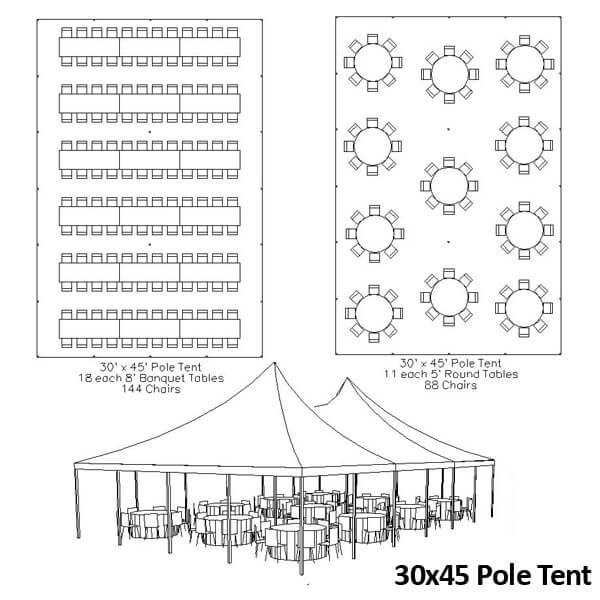 30x45 Canopy Tent | Celebrations by Rent-All located in Sioux Center and Storm Lake | Tents for Rent