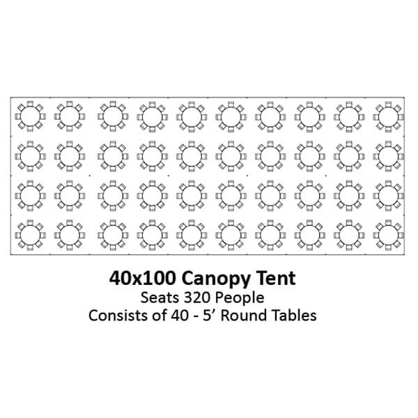 40x100 Canopy Tent | Celebrations by Rent-All located in Sioux Center | Tents for Rent