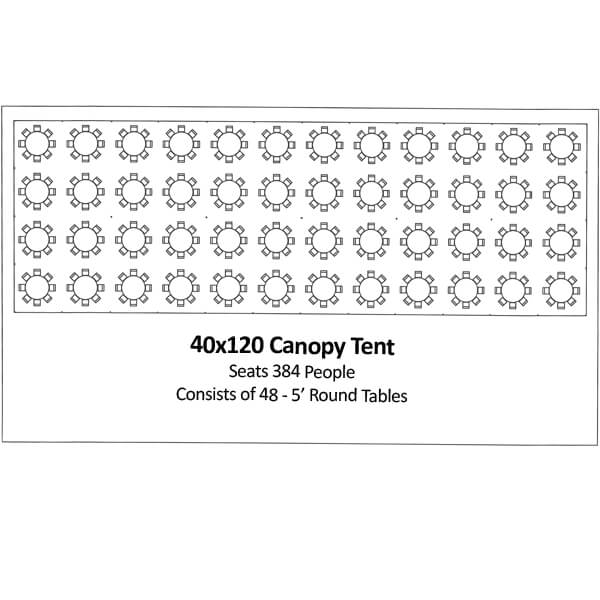 40x120 Canopy Tent   Celebrations by Rent-All located in Sioux Center   Tents for Rent