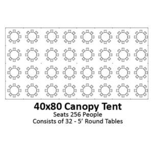 40x80 Canopy Tent | Celebrations by Rent-All located in Sioux Center | Tents for Rent