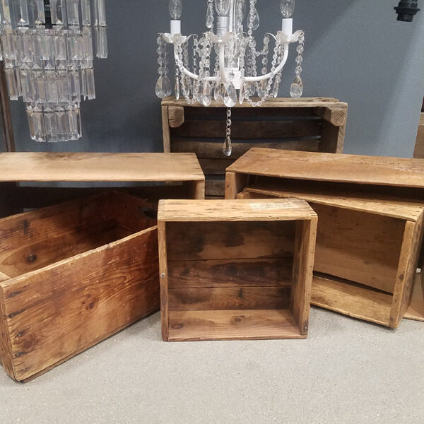 Wooden Crates | Celebrations by Rent-All located in Sioux Center | Wood Boxes For Rent